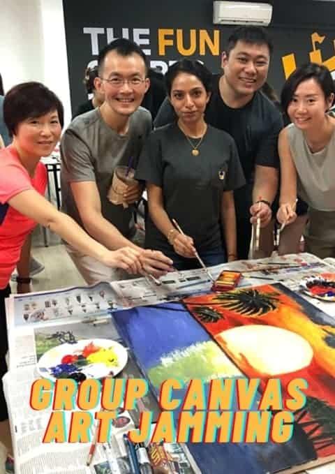 art jamming Singapore - team building games Singapore